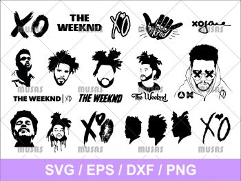 The Weeknd SVG Cricut File