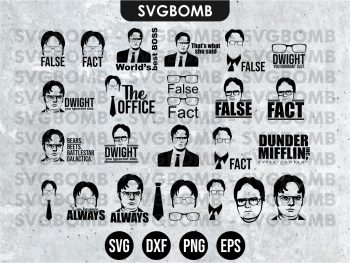 The office SVG TV show svg cricut file