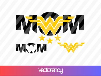 Wonder Woman Mom SVG Cricut File