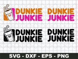 dunkie junkie svg cricut file vector
