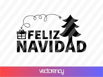 feliz navidad svg cricut file vector