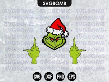 grinch middle finger svg cricut file