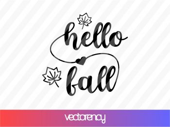 hello fall svg cricut file
