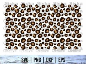 leopard print svg design cut file