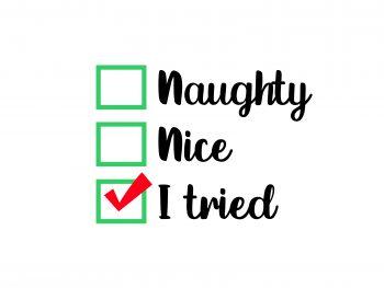 naughty nice i tried svg cricut file