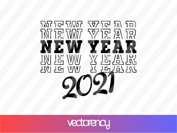 new year 2021 svg cut file