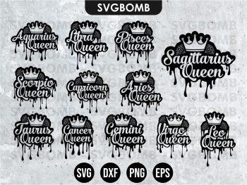 queen zodiac svg Cricut File Vector