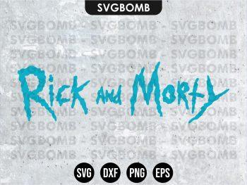 rick and morty logo svg cricut file vector