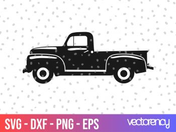 vintage farm truck svg vector file