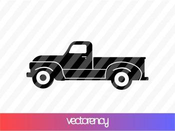 vintage truck svg cricut file