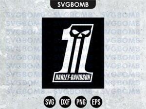 #1 Harley Davidson SVG