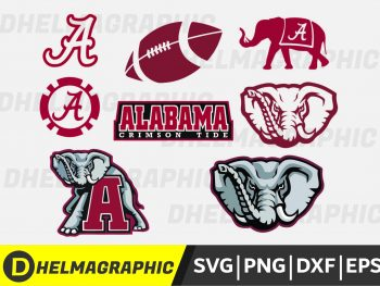 Alabama Crimson Bundle SVG