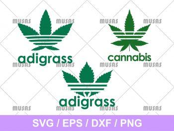Adigrass Adidas SVG eps vector cricut file