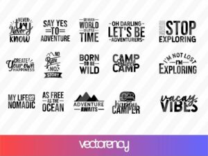 Adventure & Travel SVG Bundle Cut File Vector