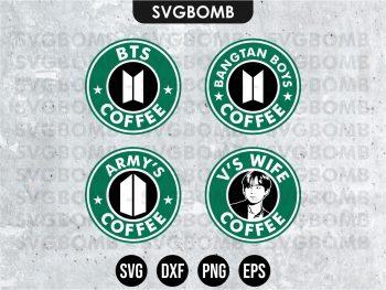 BTS SVG V Starbucks