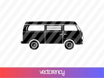 Camper Van Bus SVG Cricut File Vector