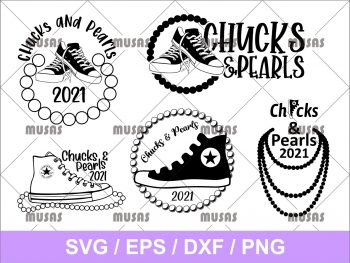 Chucks and Pearls SVG Bundle