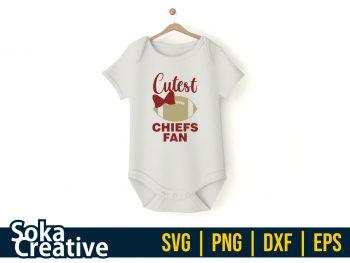Cutest Chiefs Fan SVG Cricut File Vector