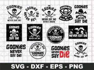 Goonies Never Say Die SVG