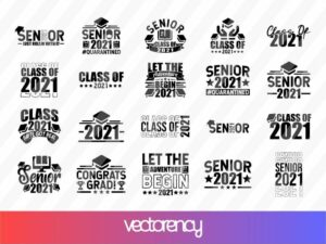 Graduation 2021 SVG Cut File EPS Vector