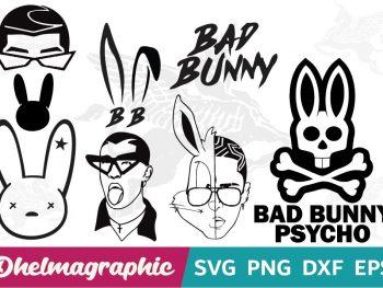 Head Bad Bunny Bundle SVG