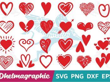 Heart Valentine Bundle SVG