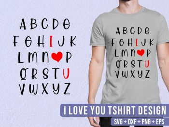 I Love You SVG Valentines Day SVG