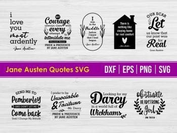Jane Austen Quotes SVG