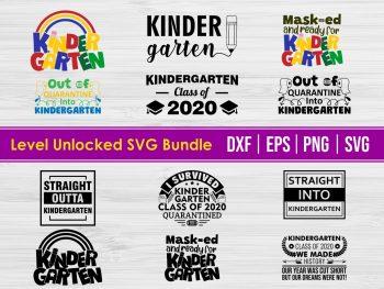 Kindergarten SVG DXF PNG Bundle eps vector file