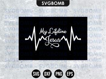 My Lifeline Jesus SVG