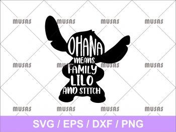 Ohana Means Family Lilo and Stitch SVG