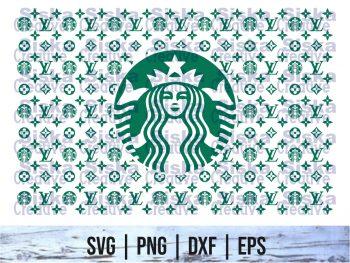 Pattern LV Starbucks SVG