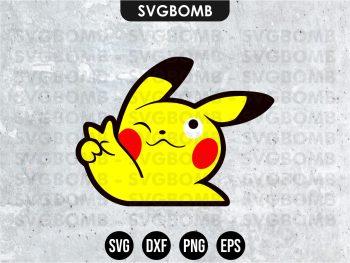 Peace Pikachu SVG