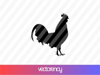 Rooster Silhouette SVG