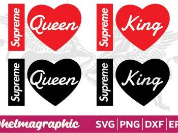 Supreme King Queen Valentine Couple