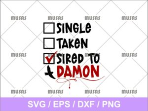 Sired to Damon SVG
