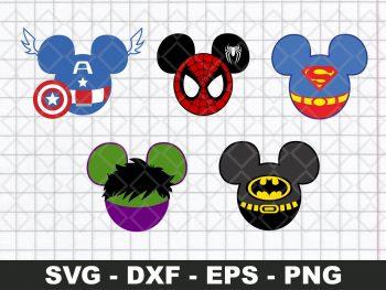 Superheroes Mickey Heads Bundle