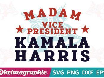 Madam Vice President Kamala Harris SVG