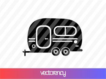 Travel Vehicle Camper Van SVG PNG Transparent