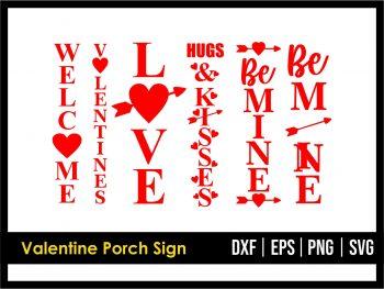 Valentine Porch Sign SVG