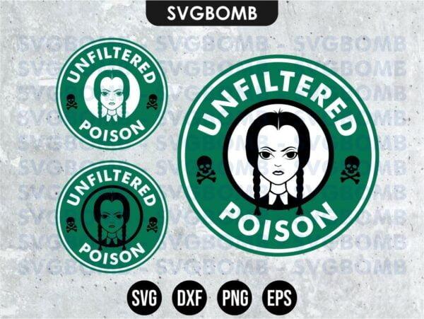 Wednesday Addams Starbucks Unfiltered Poison SVG