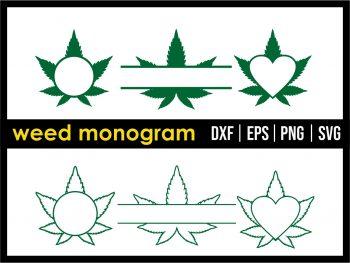 Weed Monogram SVG