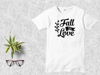 Fall in Love T-Shirt Design SVG