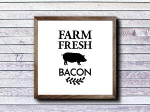 Farm Fresh Bacon SVG