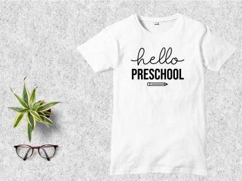 Hello Preschool T-Shirt Design SVG