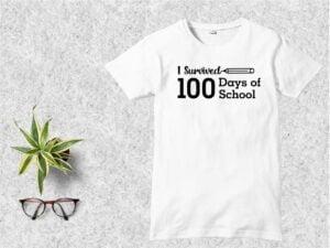 I Survived 100 Days of School T Shirt Design SVG