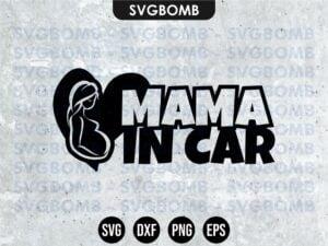 Mama in Car SVG