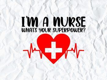 Nurse Superpower SVG