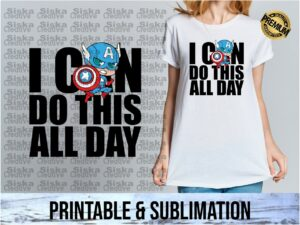 quotes captain america sublimation printable