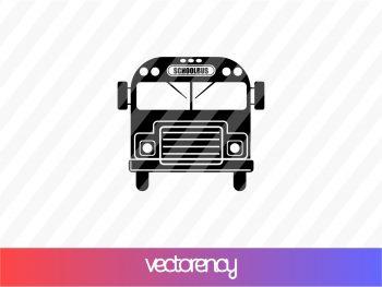 school bus silhouette svg cricut file vector